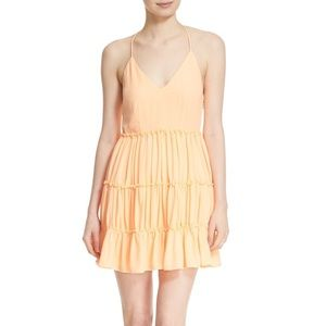 Elizabeth and James Lenny Peach Dress